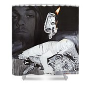 #uck Fame Shower Curtain