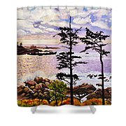 Ucluelet In December Shower Curtain