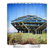 Ucsd Geisel Library Shower Curtain by Nancy Ingersoll
