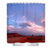 Ufo At Monument Valley Shower Curtain