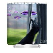 Ufos Shower Curtain