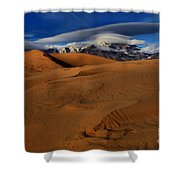 Ufos Over Sand Dunes Shower Curtain
