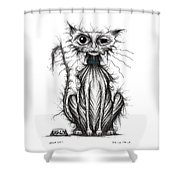 Ugly Cat Shower Curtain