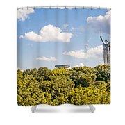 Ukraine Motherland Statue  Shower Curtain