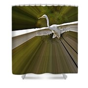 Ultimate Bender Egret Shower Curtain
