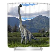 Ultrasaurus In Meadow Shower Curtain