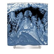 Ultraviolet Cave In Winter Shower Curtain