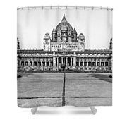 Umaid Bhawan Palace Monochrome Shower Curtain