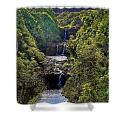 Umauma Falls II Shower Curtain