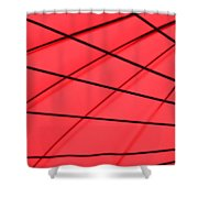Red And Black Abstract Shower Curtain by Tony Grider