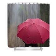 Umbrella And Blur Shower Curtain