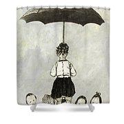 Umbrella Children Shower Curtain