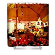 Umbrella Fruitstand - Autumn Bounty Shower Curtain