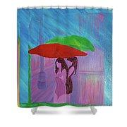 Umbrella Girls Shower Curtain