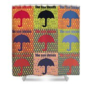Umbrella In Pop Art Style Shower Curtain by Tommytechno Sweden