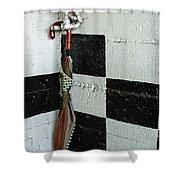 Umbrella In The Corner Shower Curtain