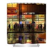 Umbrella Parade - New York In The Rain Shower Curtain