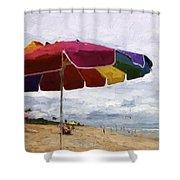 Umbrella Time Shower Curtain