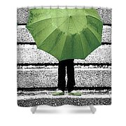 Umbrella Trio Shower Curtain