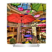 Umbrellas At Palazzo Shops Shower Curtain