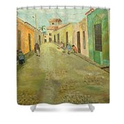 una calle en Trinidad  Shower Curtain