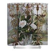 Una Finestra Liberty Shower Curtain