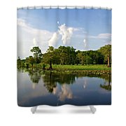 Uncertain Reflection Shower Curtain