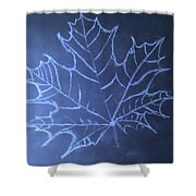 Uncertaintys Leaf Shower Curtain by Jason Padgett