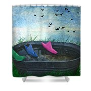 Uncharted Waters Shower Curtain