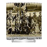 Uncle Eddie Pilot Shower Curtain