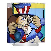Uncle Sam 2001 Shower Curtain