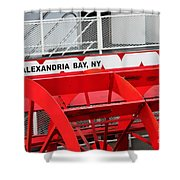 Uncle Sam Bout Tour Alexandria Bay Shower Curtain