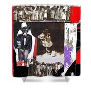 Uncle Sam Richard Nixon Mask Nuns Sitting Child Collage 2013 Shower Curtain