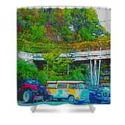 Uncle Tom's Toybox Shower Curtain