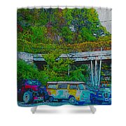 Uncle Tom's Toybox Painted 2 Shower Curtain