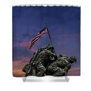 Uncommon Valor Was A Common Virtue Shower Curtain