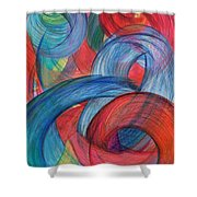 Uncovered Curves-vertical Shower Curtain by Kelly K H B