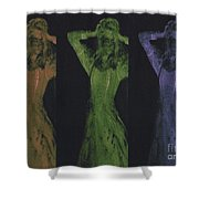 Undead X 3 Shower Curtain