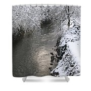 Under A Blanket Of Snow Shower Curtain