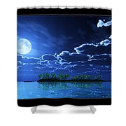 Under A Silvery Moon... Shower Curtain