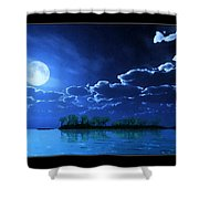Under A Silvery Moon...artistic Effect Shower Curtain