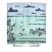 Under And Over Shower Curtain
