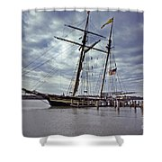Under Cloudy Skies Shower Curtain