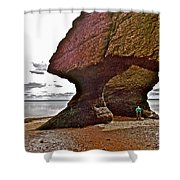 Under Fundy Feet In Big Cove At Hopewell Rocks-new Brunswick Shower Curtain