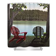 Under Muskoka Trees Shower Curtain