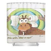 Under Or Over Shower Curtain