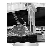 Under Pass Bw Iv Shower Curtain