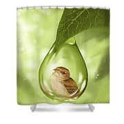 Under Protection Shower Curtain