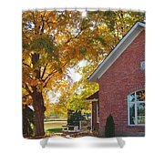Under Sheltering Leaves Shower Curtain