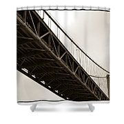 Under The Bay Bridge Shower Curtain